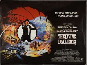James Bond The Living Daylights (1987) British Quad film poster