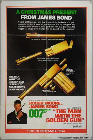 James Bond The Man With The Golden Gun (1974) One sheet teaser film poster