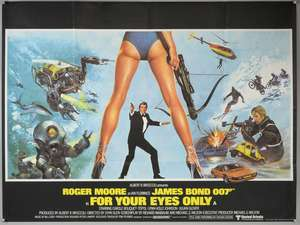 James Bond For Your Eyes Only (1981) British Quad film poster
