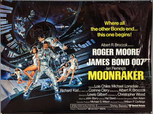 James Bond Moonraker (1979) British Quad film poster