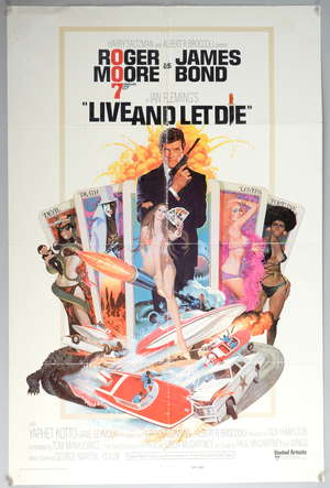 James Bond Live and Let Die (1973) US One sheet film poster