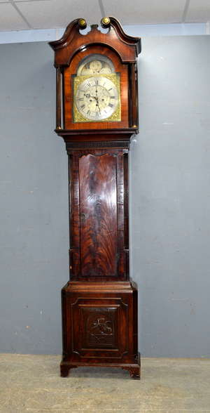 Late 18th/early 19th century mahogany eight day longcase clock by Dodson of Holbrook