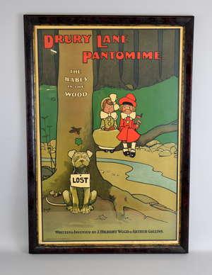John Hassall Drury Lane pantomime original lithograph