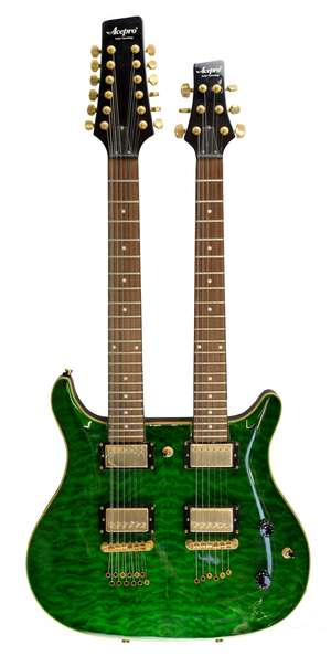 Acepro Double Neck Electric Guitar, with stand