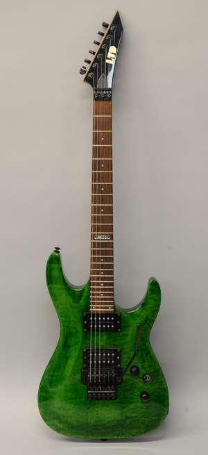 ESP LTD MH-100QM Electric Guitar, Serial IR0443982, with hard case