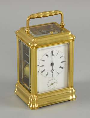19th century French carriage clock with repeat and alarm