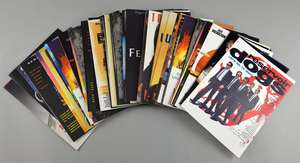 100 press books / synopsis sheets including Aladdin, James Bond GoldenEye, Reservoir Dogs, Star Trek, Mission Impossible, Mars Attacks, Get Shorty, Judge Dredd, Demolition Man, Tron & others
