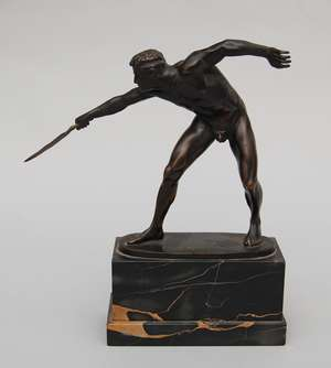 Rudolph Marcuse - Bronze figure of a gladiator