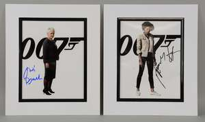 James Bond Skyfall (2012) - Two 8 x 10 inch autographs of Judi Dench & Naomie Harris, in black & white mounts. Provenance: Obtained at the London Skyfall Premiere, 23rd October 2012.
