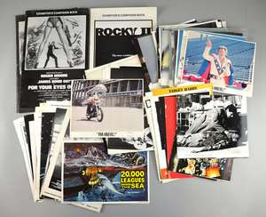 Large collection of campaign books, press advertising, synopsis sheets, movie stills, front of house cards, films including James Bond For Your Eyes Only, Elvis The Movie, Rocky II, Scanners, Star Trek The Motion Picture, Superman, Close Encounters,