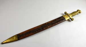 French Infantry two-edged sword pattern 1831. TALABOT F  No 305 on bottom of brass handle