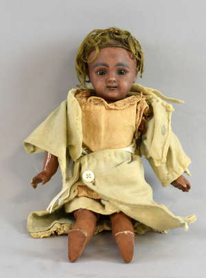 Early 20th century Indian character  bisque and composition doll marked  S2 k 349