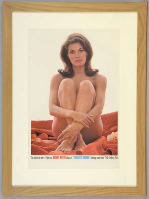 Fantastic Voyage (1966) US Special poster 'Window Card' showing a naked Raquel Welch, framed, 14 x 22 inches
