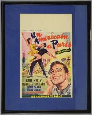 American In Paris (1951) Belgian film poster