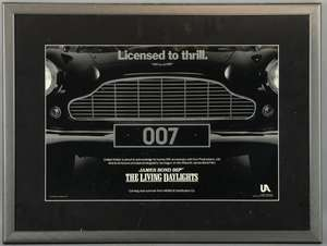 James Bond The Living Daylights (1986) Special poster showing an Aston Martin grill