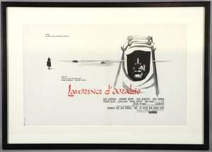 Lawrence of Arabia (1963) French petite first release film poster, Columbia, framed, 15 x 23 inches
