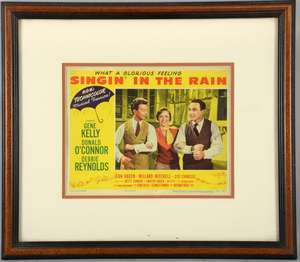 Singin' In The Rain (1952) US Lobby card, No 2, MGM, framed, 11 x 14 inches