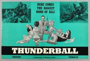 James Bond Thunderball (1965) UK Exhibitors' campaign book, no cuts, 12 x 18 inches
