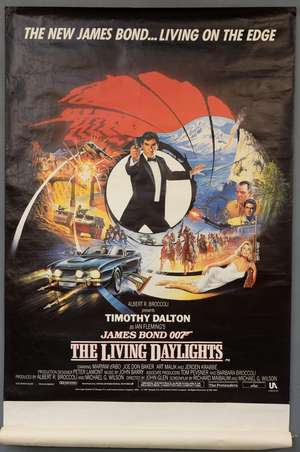 James Bond The Living Daylights (1987) British bus stop film poster