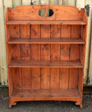 Early 20th century pine bookcase  136cm x 94cm