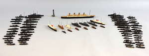 Collection of miniature cast metal ship models, (approximately 60),