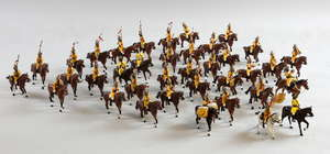 Tradition of London Toy Soldiers Set Trooper Skinners Horse 1901 Painted, (37) and other Bengal Lancers (18) Toy Soldiers Set Punjab Frontier Force 1890 Painted (6) and three other sets (18) Various makers