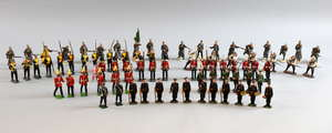 Brtiains and other sets of Russian, German and British infantry. (approx 73 pieces)