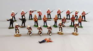 Sarum Soldiers, Britains and other makers, Highlanders and others in field dress (24) Various makers