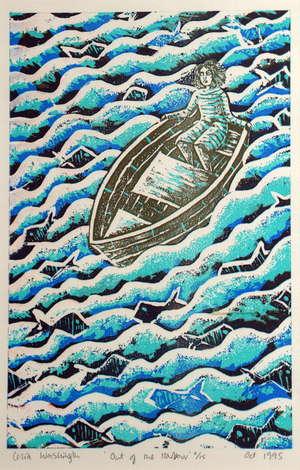 Celia WASHINGTON (1959) 'Out of the Harbour' 40cm x 24cm