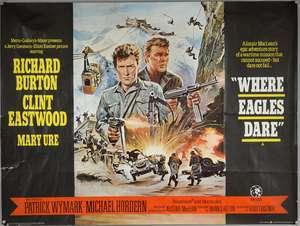 Where Eagles Dare (1969) British Quad film poster