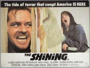 The Shining (1980) British Quad film poster