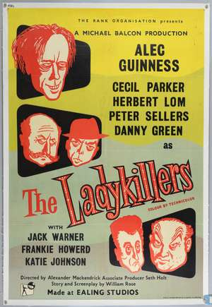 The Ladykillers (1955) British One Sheet film poster