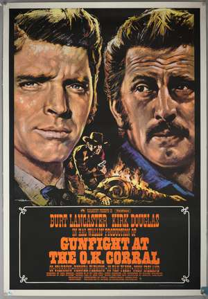 Gunfight At The O.K. Corral (1957) British One Sheet film poster