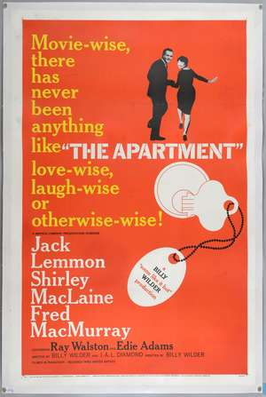 The Apartment (1960) US One Sheet film poster