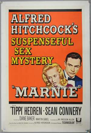 Marnie (1964) US One Sheet film poster