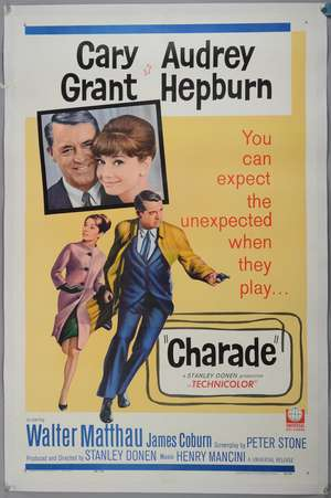 Charade (1963) US One Sheet film poster
