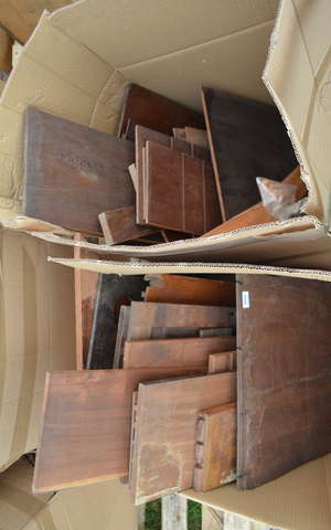 Solid mahogany wood planks   Please note: There is no Brazilian rosewood in the auction but Ewbank's advises prospective purchasers who intend to ship this lot to another country that they must familiarise themselves with the relevant import/export r