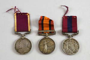 A Boer War D.C.M. Group of Three to 5644 Sgt. G. Hoad
