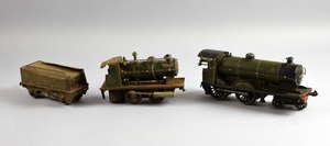 Marklin live steam locomotive, Bassett-Lowke O Gauge 4-4-0 Loco and Tender Duke of York No.1927, clockwork