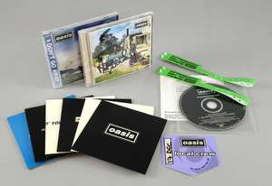 Oasis - Be Here Now CD & promo CD signed by Noel Gallagher. Don't Go Away sealed Japanese CD single