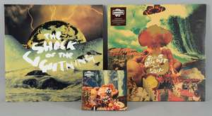 """Oasis - Dig Out Your Soul Sealed vinyl album & songbook CD-Rom & The Shock Of The Lightning Mint 12"""" promo vinyl."""