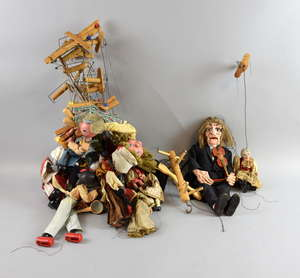 Collection of unboxed Pelham and other string puppets