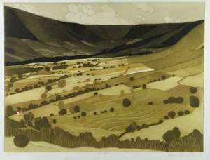 John Brunsdon (British, 1933-2014). 'Edale', limited edition print. Signed, titled and numbered 271/350. Framed and glazed. Print size: 45cm x 60cm, frame size: 63cm x 86cm.