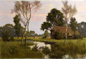 W. J. Alberts - landscape with river