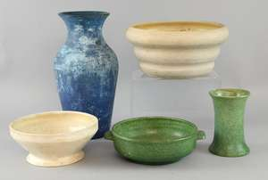 Five items of Compton pottery