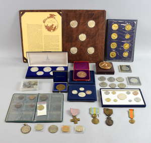 Collection of English and European coins including Coinvestors