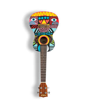 David Shillinglaw (British, b.1982). Untitled. Ukulele: Kala Concert.   David Shillinglaw, is a London-based artist born to British parents in Saudi Arabia. Since graduating from Central Saint Martins in 2002 he has exhibited in galleries in Japan, C