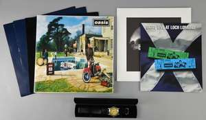 """Oasis - 12"""" Vinyl 3 one sided promos all mint original pressings 'Cigarettes And Alcohol'"""