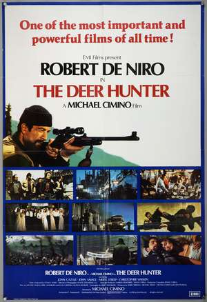 The Deer Hunter (1978) English One Sheet film poster, starring Robert De Niro, folded, 27 x 40 inches