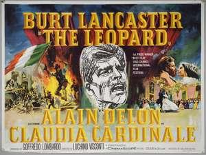 The Leopard (1963) British Quad film poster